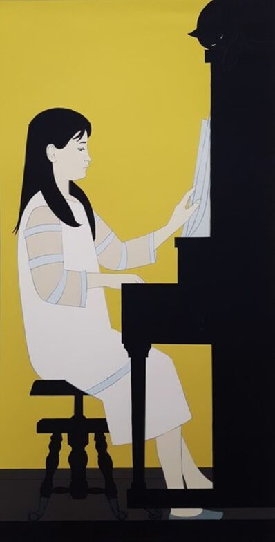 Will Barnet, 'Girl at Piano', 1973