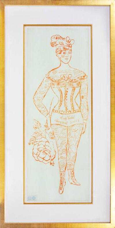 Andy Warhol, 'Andy Warhol, Tattooed Woman Holding Rose, 1955', 1955