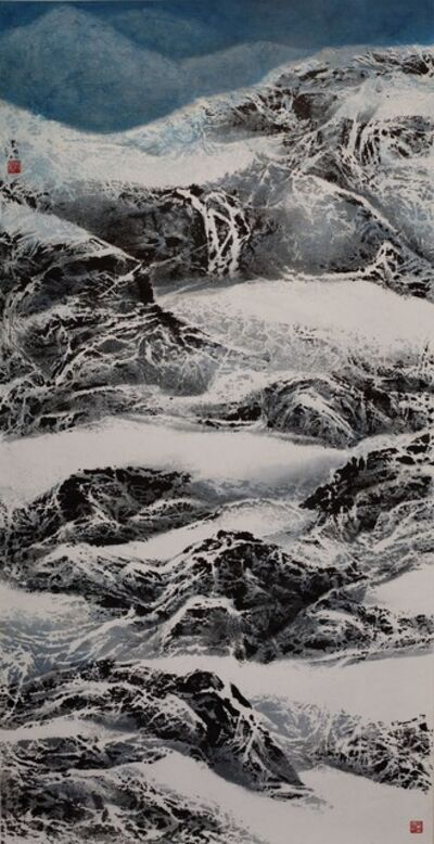 Liu Kuo-sung 刘国松, 'Natural Meshy White Lines of Snow Mountains', 2014