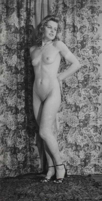 Eugene Von Bruenchenhein, 'Untitled (Standing nude with heels)', ca. 1940s