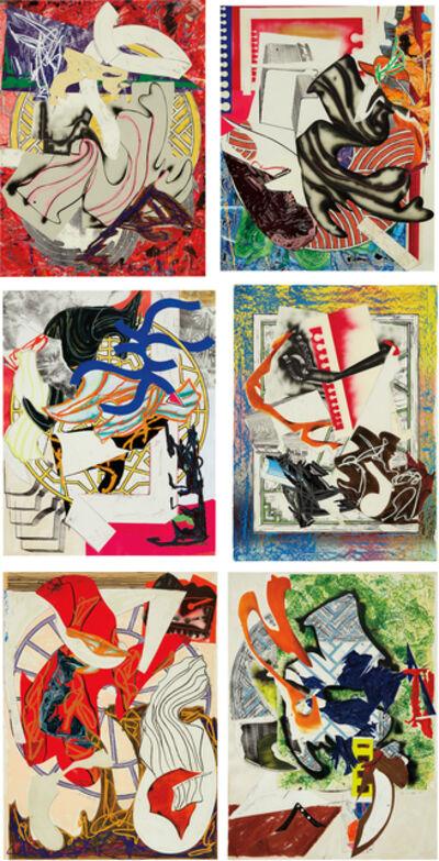 Frank Stella, 'Waves II: six prints', 1985-1989
