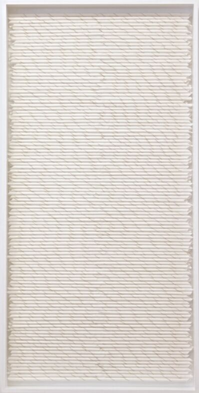 Rakuko Naito, 'RN1248-3 1/2-16 Rolled Stripe with Burnt Edge', 2016