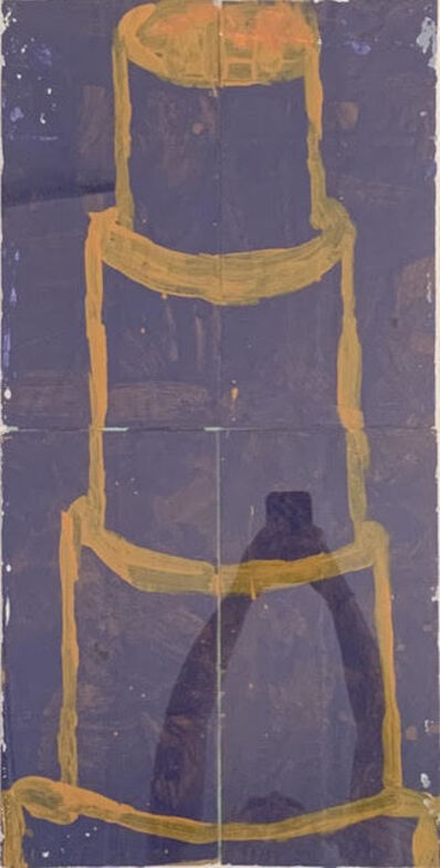 Gary Komarin, 'Cake Stacked: Yellow on Dark Blue', 2014