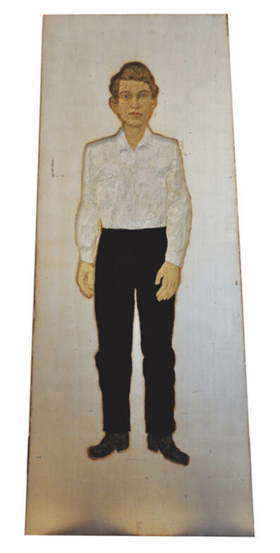 Stephan Balkenhol, 'Man with white shirt & black trousers', 2014