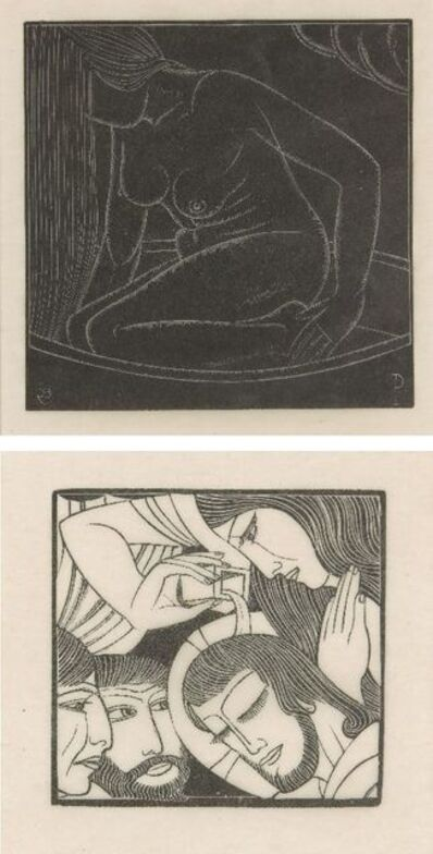 Eric Gill, 'Girl in Bath II and and Mary Magdalen'