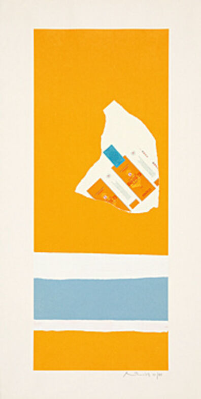 Robert Motherwell, 'Harvest, with Two White Stripes (Summer Light Series)', 1973
