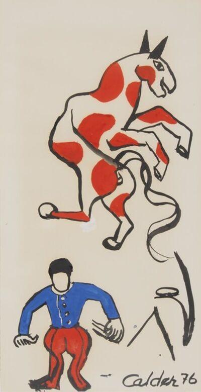 Alexander Calder, 'The horse', ca. 1976