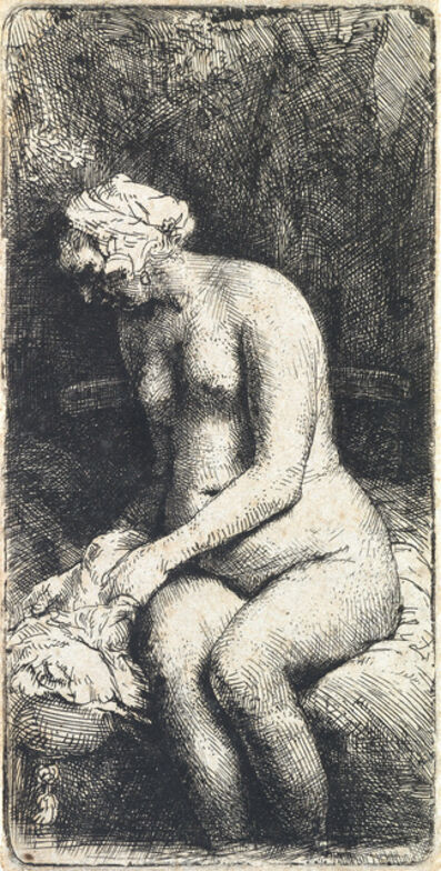 Rembrandt van Rijn, 'Woman Bather her Feet at a Brook', 1658