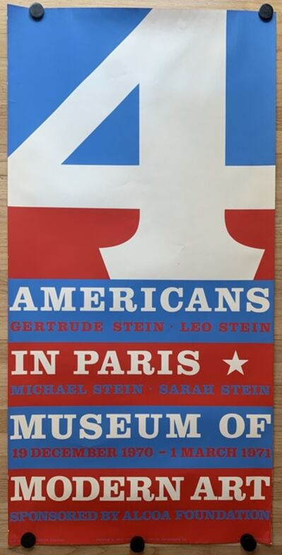 Robert Indiana, '4 Americans in Paris', 1970