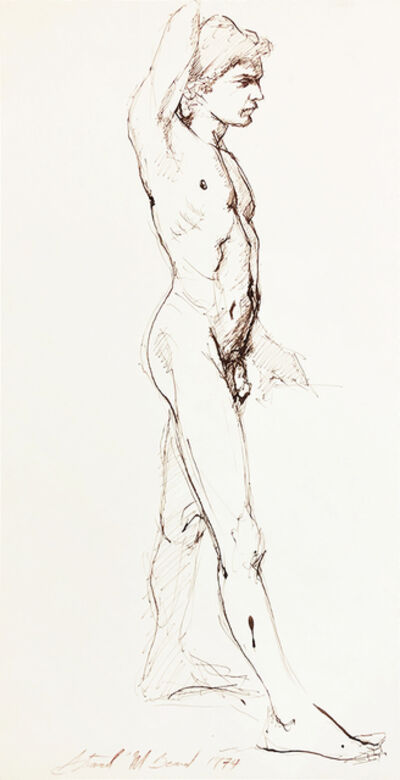 Mark Beard, 'Untitled (Standing Male Nude Facing Right)', 1974