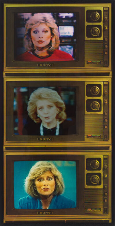 Robert Heinecken, 'T.V. Newswomen Corresponding (Faith and Barbara)', 1986