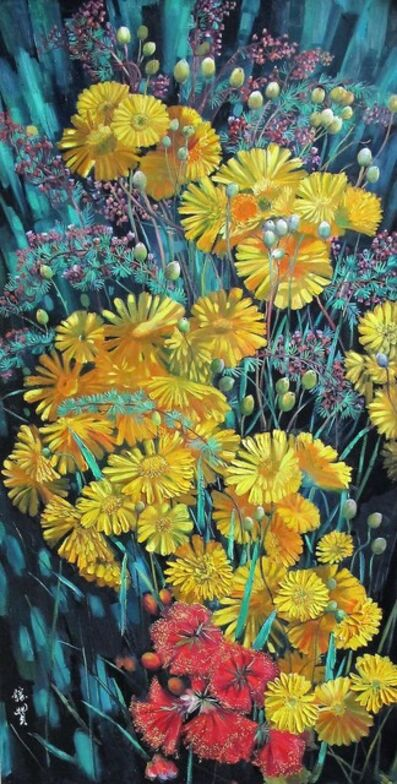 Zhang Shengzan 张胜赞, 'Blossom in fireworks', 2018