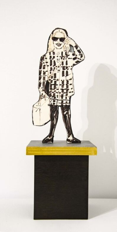 Red Grooms, 'Fashionista (maquette for installations in Chicago)', 1995