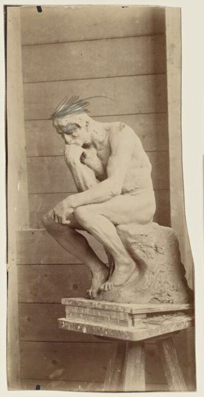 Victor Pannelier, 'Le Penseur en terre, retouche à la mine de plomb (The Thinker in clay, retouched in pencil)', July 1882
