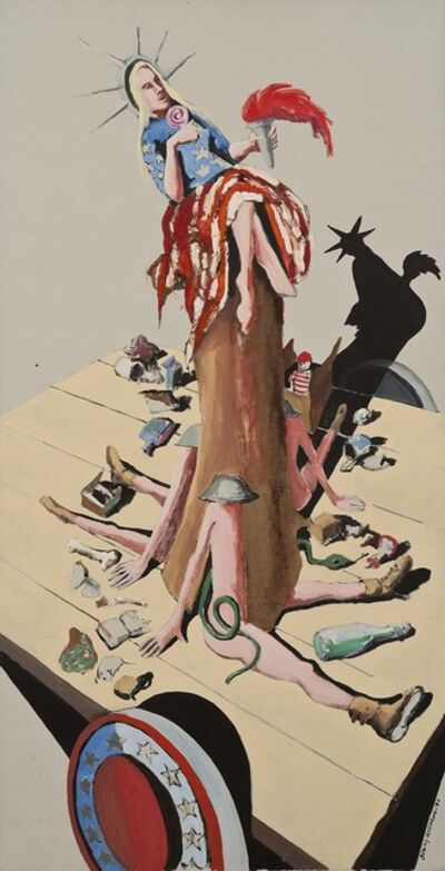 Benny Andrews, 'Liberty #6 (Study for Trash)', 1971