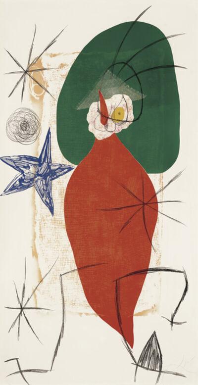 Joan Miró, 'LA FOLLE AU PIMENT RAGEUR', 1975