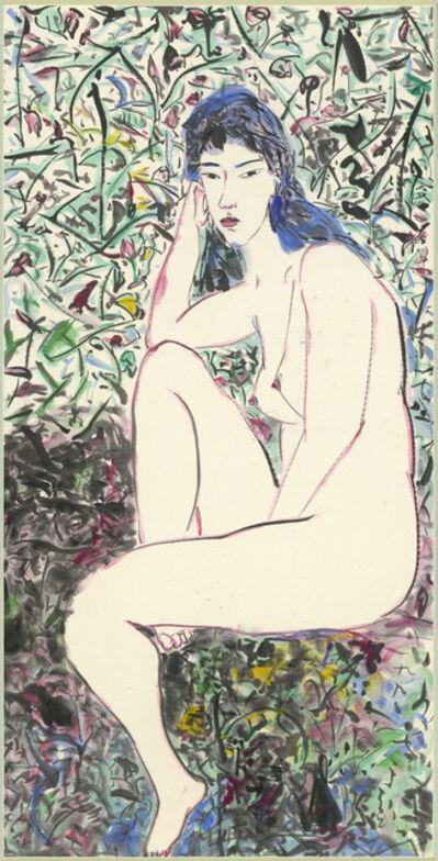 Yu Peng (TAIWANESE, 1955-2014), 'Nude (Green Space)', 1990
