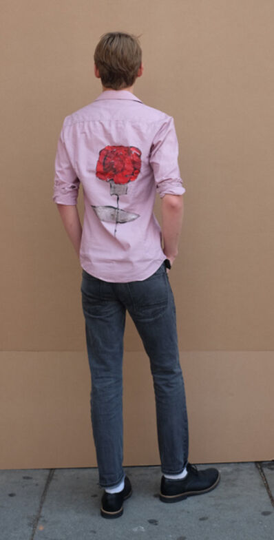 Elana Cooper, 'Untitled (Flower on Men's Dress Shirt), 2018', 2018
