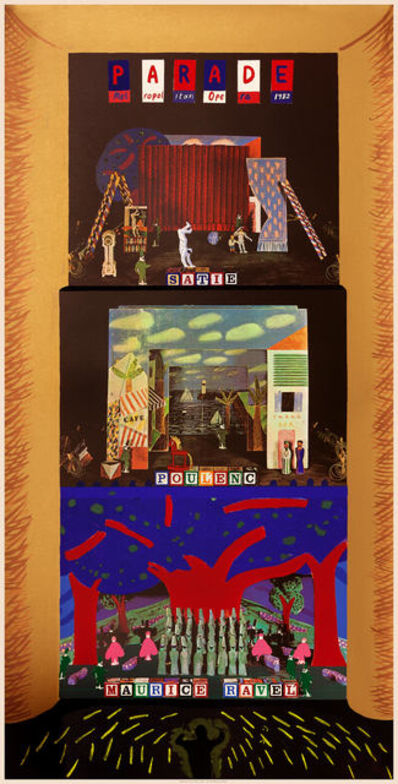 David Hockney, 'A French Triple Bill (Metropolitan Opera) ', 1982
