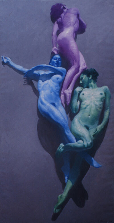 John Asaro, 'Rose Blue Green', 2020