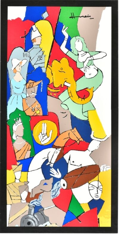 M. F. Husain, 'British Series', ca. 2000