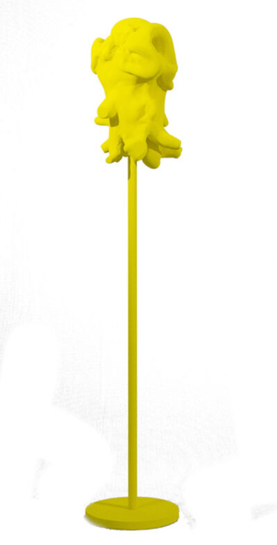 Shayne Dark, 'Windfall Yellow - bright, playful, matte, painted, wood, standing sculpture', 2019
