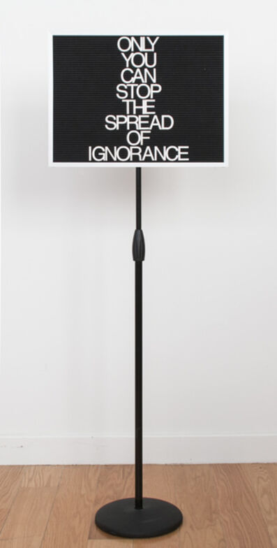 Maynard Monrow, 'Ignorance', 2017