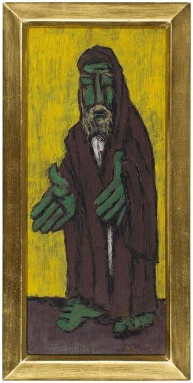 """Ben-Zion Weinman, 'Modernist Rabbi Judaica Bold Color """"School of 10""""', 20th Century"""