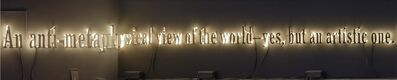 Joseph Kosuth, ''Nietzsche Enlightened (Essay) #2' | An anti-metaphysical view of the world–yes, but an artistic one. F.N.', 2019