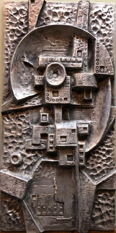 Gunther Gerzso, 'Mexican Modernist Master Silvered Cast Abstract Sculpture Relief Gunther Gerzso', 1970-1979