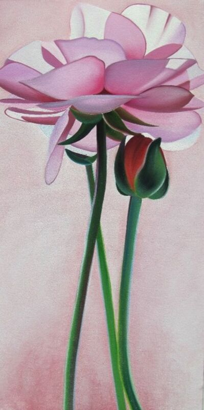 "Dyana Hesson, '""Pink Flowers # 65,66,67""'"