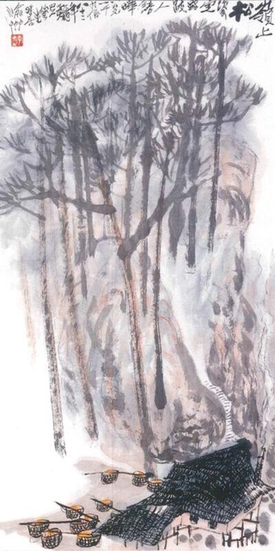 Li Huasheng 李华生, 'Pine Trees and Hut 松樹人家', 1982