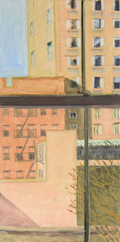 Lois Dodd, 'View of Bowery Hotels', 2019