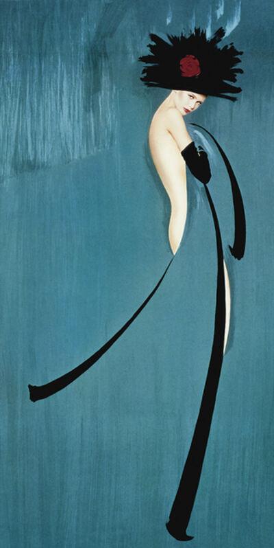 Gunter Sachs, 'Hommage à Gruau,bleu,', 1991