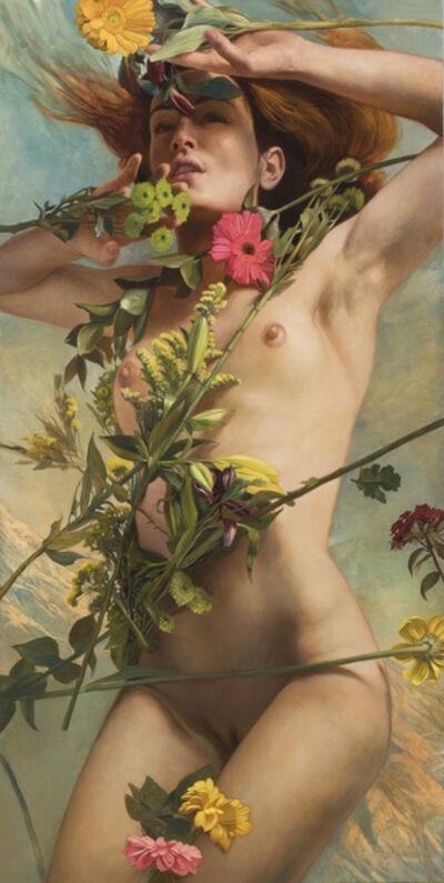 Julie Bell, 'Venus Clothed in Flowers'