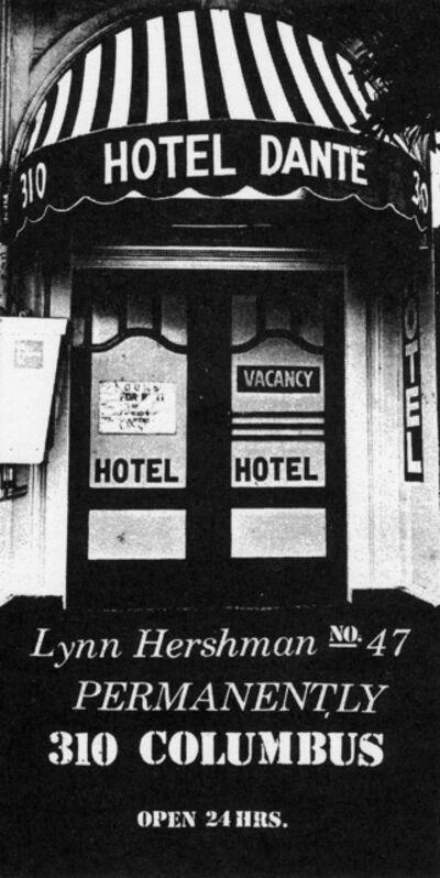 Lynn Hershman Leeson, 'The  Dante  Hotel (detail)    ', 1973