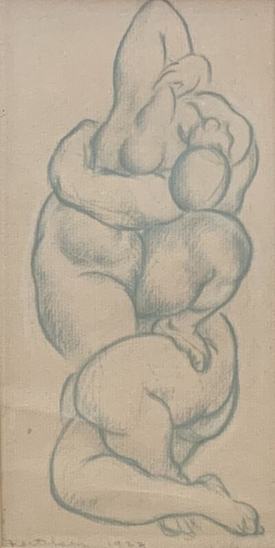 Lorser Feitelson, 'Nudes Entwined', 1922