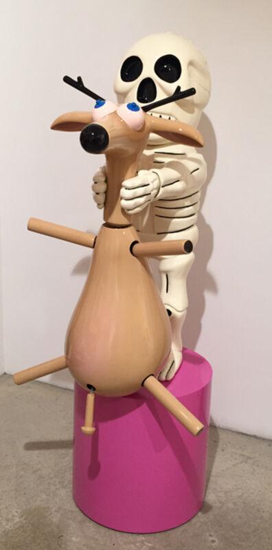 Richard Jackson, 'Deer and Skeleton (version bleu)', 2014