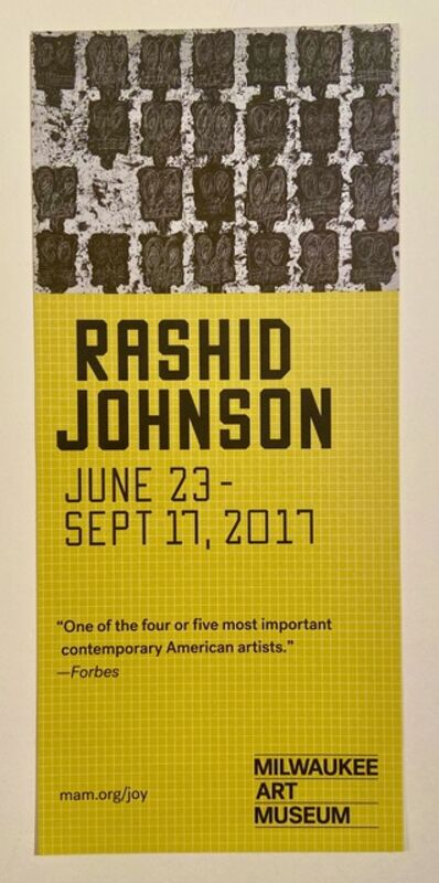 "Rashid Johnson, 'Rashid Johnson ""Hail We Now Sing Joy"" Milwaukee Art Museum Double Sided Color Info Card', 2017"