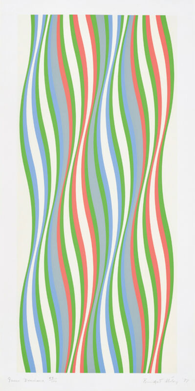Bridget Riley, 'Green Dominance', 1977
