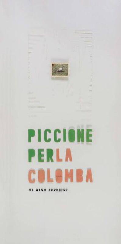 Luigi Ontani, 'Piccione per la colomba di Gino Severini', 1970-1971