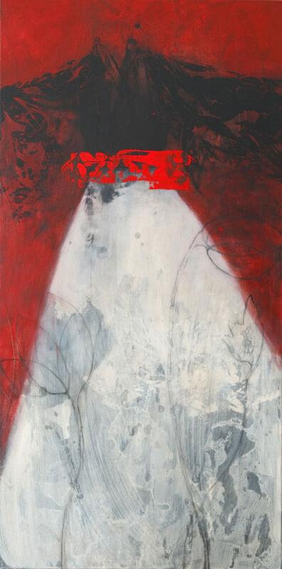 Nathalie Deshairs, 'Kimono noir, fond rouge', 2019