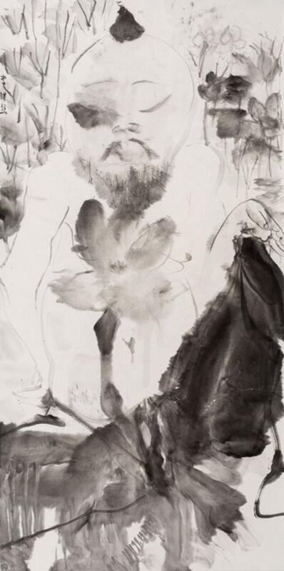 Li Jin 李津, 'Man in Lotus 荷中人', 2017