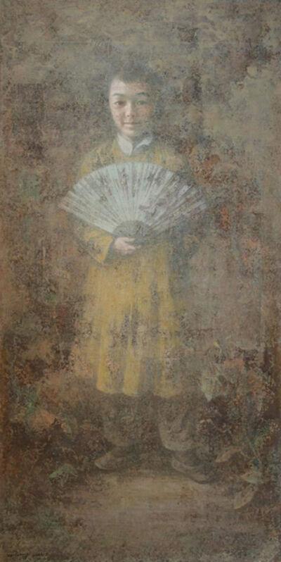 Wang Gang, 'A Boy With A Fan', 2014