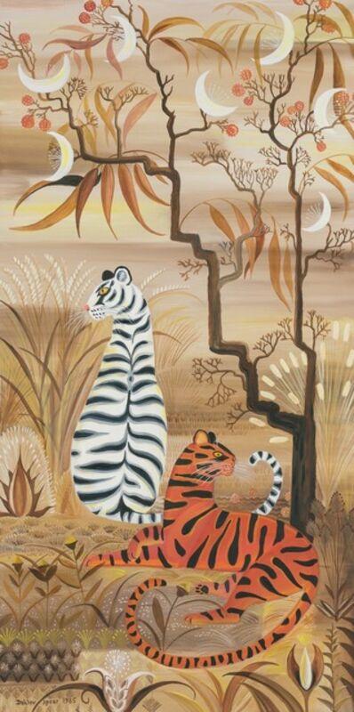 Dahlov Zorach Ipcar, 'Tigers and Moon Tree', 1985