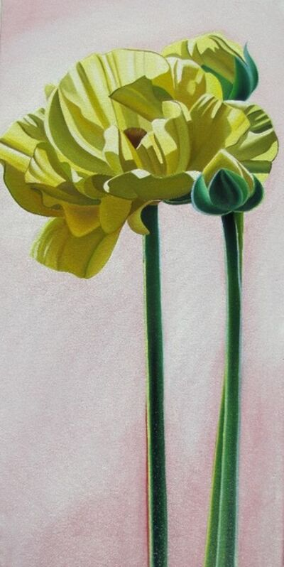 "Dyana Hesson, '""Yellow Flowers # 32,33,34""'"