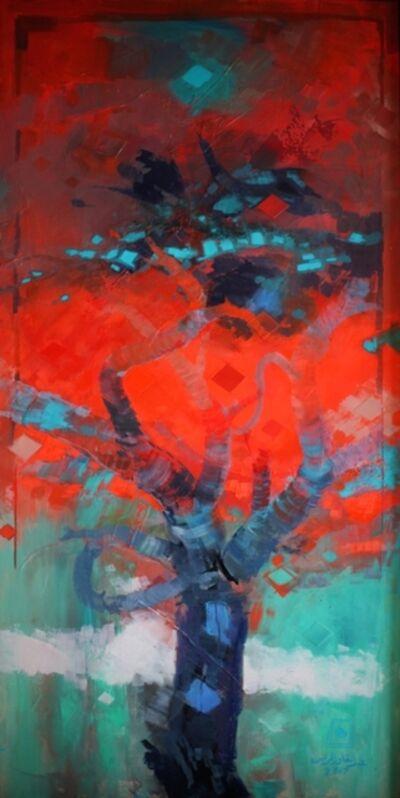 Abdul Qader Al Rais, 'Al Samar Series, Oil on Canvas', 2017