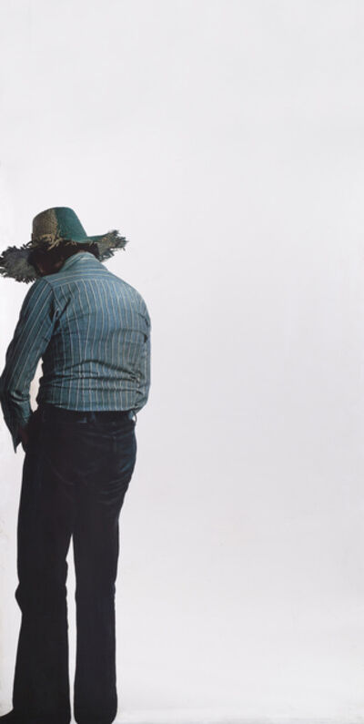 Michelangelo Pistoletto, 'Uomo Dal Cappello Giallo e Verde (Man With a Yellow and Green Hat)', 1973