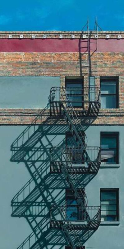 Lynette Cook, 'Scaling the Heights / architectural realism - acrylic on canvas ', 2019