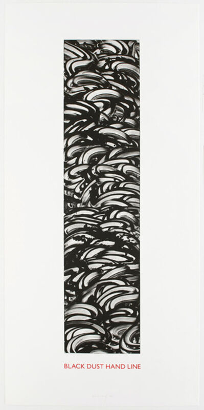 Richard Long, 'Black Dust Hand Line', 1990